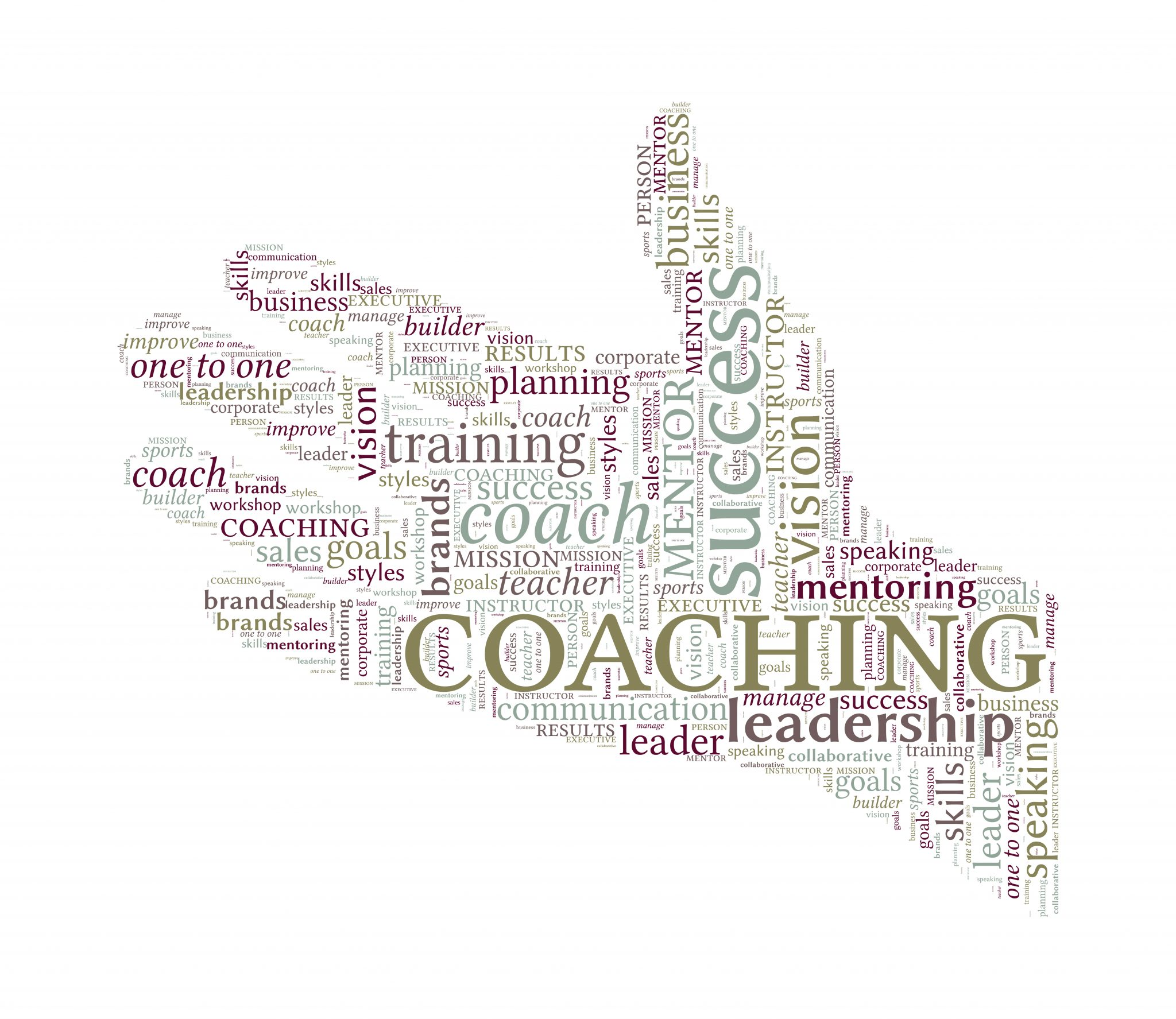 Helping Hand Vector Word Cloud – Coaching Concept